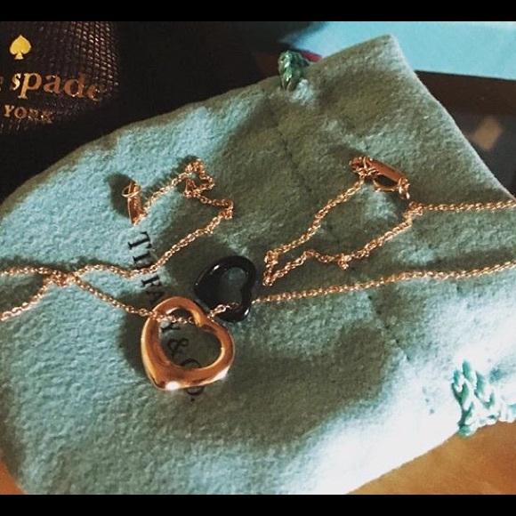 c2e919aad Tiffany & Co. Accessories   Elsa Peretti Open Heart Pendant Gold ...